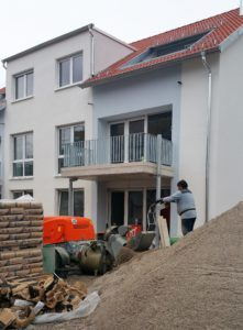 Haus B, der Innenausbau beginnt