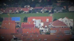 Unser Wohnprojekt vom Umland (Leistadt) aus gesehen.