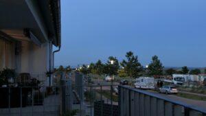 Abendlicher Blick von Haus C Richtung LU
